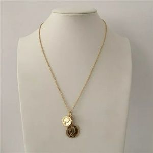New gold plated coin necklace